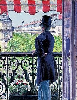 Caillebotte, L'Homme au balcon, boulevard Haussmann - Christie's