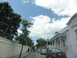 Typical street in Barrio Tercero (showing Calle Isabel, looking west)