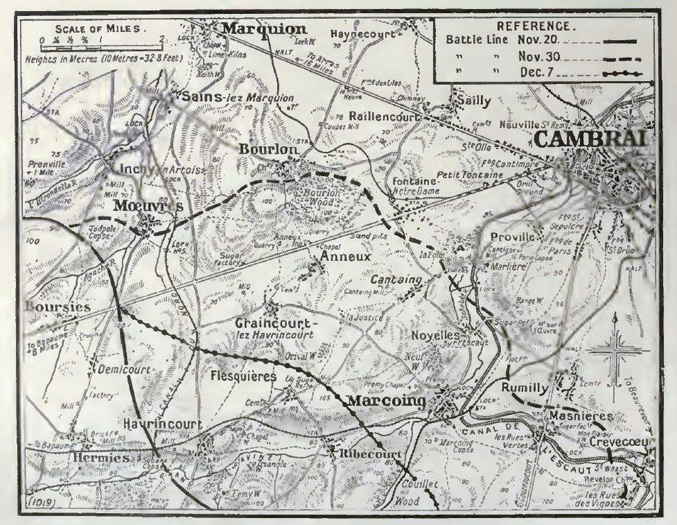Cambrai salient north, 1917