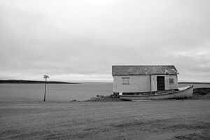 Cambridge Bay - View of the bay in front of the community, 2011