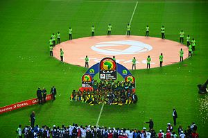 2017 Africa Cup of Nations - Image: Cameroon celebrating winning 2017 Africa Cup of Nations