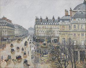 Place du Théâtre Français, Paris: Rain