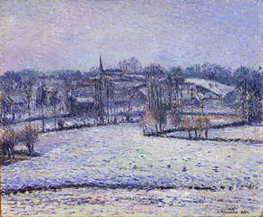 Snow Scene at Éragny (View of Bazincourt)