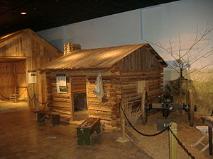 Camp Nelson Civil War Heritage Park - Replica of a refugee shanty used at Camp Nelson