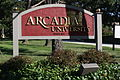 Campus Church Rd Entrance, Arcadia University.JPG