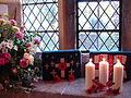 Candles lit in St Mary's Church, Wheatley.jpg