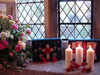 Wheatley, Oxfordshire - Candles lit in St. Mary's parish church, Memorial Day, Wheatley