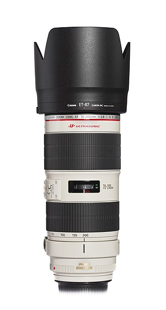 Canon EF 70–200mm lens - Canon EF 70–200mm f/2.8L IS II USM with lens hood