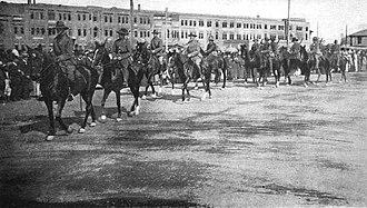 Canterbury Mounted Rifles Regiment - Image: Canterbury Mounted Rifles Cairo 1914