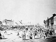 Sturt leaving Adelaide in 1844