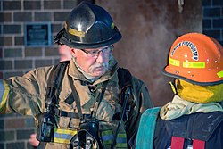 Carlisle PA Fire Chief at training