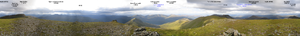 Càrn Eige - Image: Carn Eige Scotland Full Panorama from Summit labeled