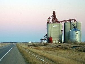 Saskatchewan Wheat Pool - A concrete terminal built by SWP
