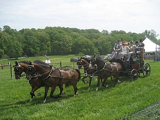 George Alexis Weymouth - Frolic Weymouth driving his coach at the head of Winterthur's Point-to-Point carriage parade.