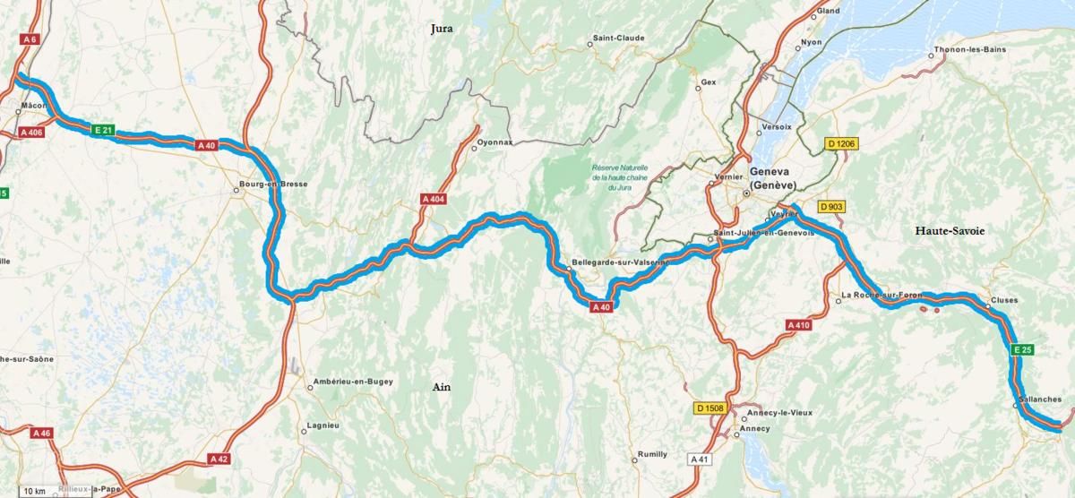 Carte Autoroute A40 (OSM).png