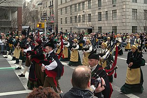 Galicians - Galician bagpipers in New York.
