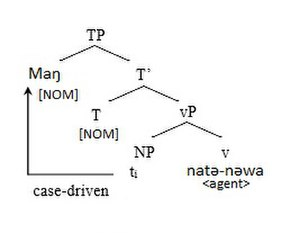 Volition (linguistics) - Syntactic tree of Sinhalase sentence
