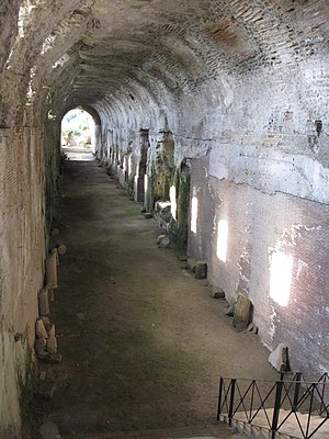 Cryptoporticus - A view of the ancient cryptoporticus located at the Papal Summer Residence in Castel Gandolfo, Italy.