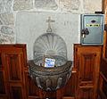 Castrejón de la Peña Church of Saint Agatha 009 stoup.jpg
