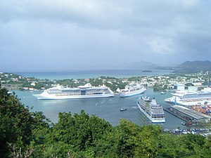 Castries Harbor from Morne Fortune, St Lucia