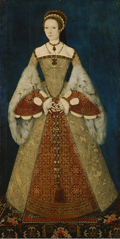 This portrait originally and now identified as Catherine Parr was wrongly identified as Lady Jane Grey for decades. Catherine Parr.jpg