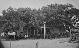 Cavalry horses at Old Church Hotel.jpg