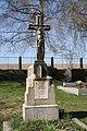 Cemetery cross of cemetery by church of Saint Barbara in Příseka, Brtnice, Jihlava District.jpg