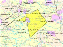 Census Bureau map of Millstone Township, New Jersey