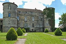 The Castle of Loubens, in Loubens-Lauragais