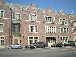 Pico-Robertson - Chabad campus on Pico Blvd. in Pico-Robertson, in a collegiate style reminiscent of Brooklyn, New York