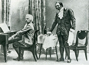 Mozart and Salieri (opera) - Vasiliy Shkafer as Mozart and Fyodor Shalyapin as Salieri in the premiere