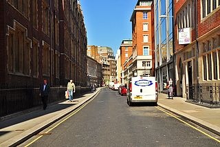 Chancery Lane street in the ward of Farringdon Without in the City of London