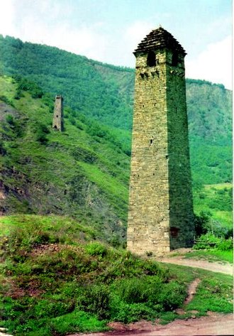 Mongol invasions of Durdzuketia - Military tower in Chanta. These sorts of towers were first built as defenses against the Mongols.