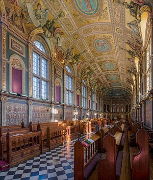 The interior of the chapel at Royal Holloway, University of London