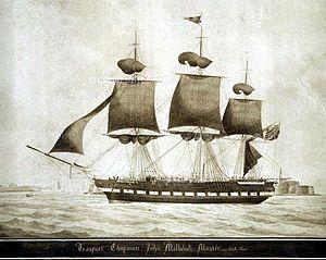 "John Burnet Biddulph - The convict and 1820 Settler ship ""Chapman"""