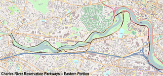 Charles River Reservation Parkways - Eastern