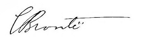 Charlotte Bronte Signature