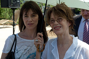 Jane Birkin - Birkin with her second daughter Charlotte Gainsbourg in 2010.