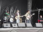 Cheesy Bubblegum band performing at Cowes Week 2011.JPG