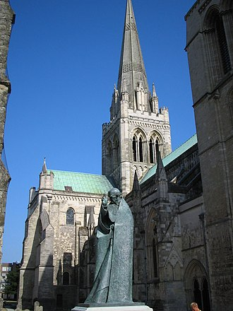 Richard of Chichester - The statue of St Richard near the west door of Chichester Cathedral.