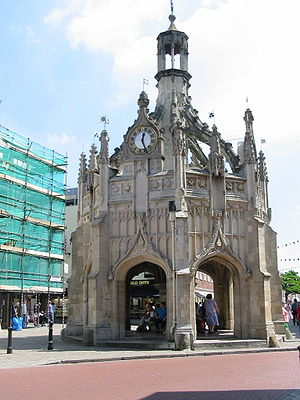 The market cross in Chichester, West Sussex, s...