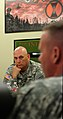 Chief of Staff of the U.S. Army Gen. Raymond T. Odierno, meets with Maj. Gen. Stephen R. Lanza, 7th Infantry Division commanding general, for a briefing on leader development, resiliency, training readiness 130626-A-IP604-454.jpg