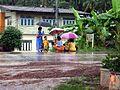 Children wait for the school bus, a little outside Nong Khai - panoramio.jpg