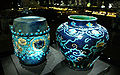 China qing two blue ceramics.JPG
