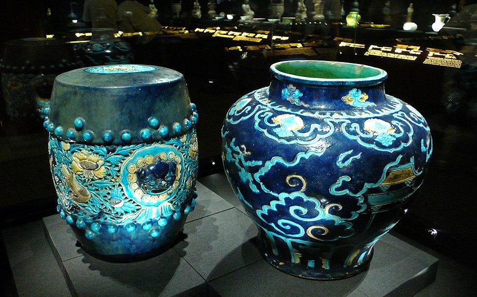 China qing two blue ceramics