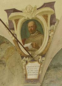 Chiostro di ognissanti, personalità francescane 18 bartrando di torre gallo.JPG