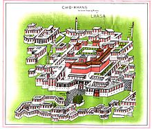 Drawing of the temple complex
