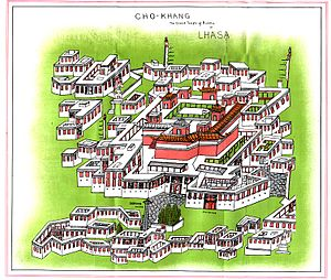 Jokhang - Plan of the complex from Journey to Lhasa and Central Tibet by Sarat Chandra Das, 1902