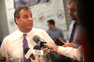 "Republican Party presidential primaries, 2016 - Governor Chris Christie polled highly until the 2014 ""Bridgegate"" scandal. He suspended his campaign after falling below the threshold in New Hampshire."