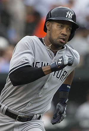 Chris Young (outfielder) - Young playing for the New York Yankees in 2014